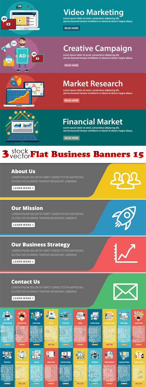 Vectors - Flat Business Banners 15
