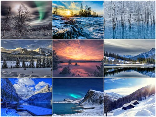 90 Winter Landscapes HD Wallpapers Set 3