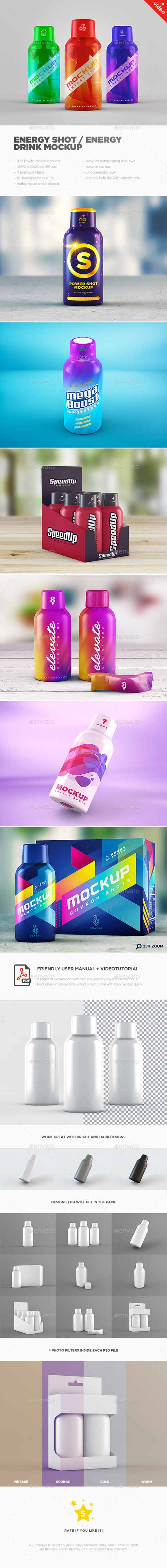 GR - Energy Shot / Energy Drink MockUp 14906526
