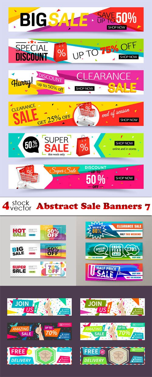 Vectors - Abstract Sale Banners 7