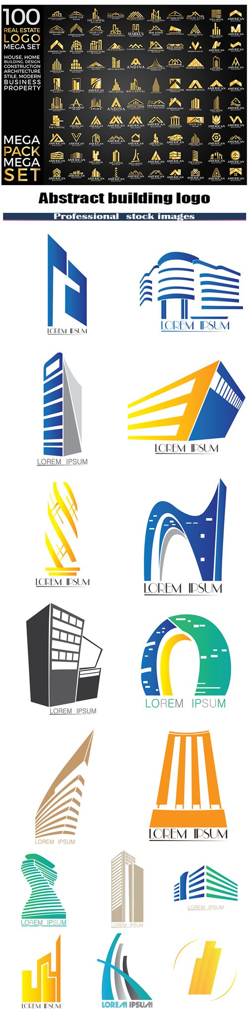 Abstract building logo