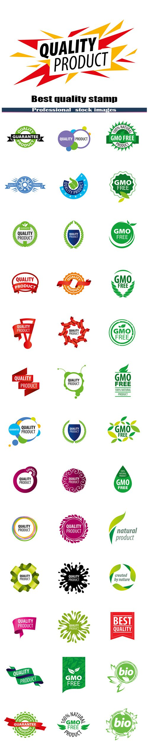 Best quality stamp and logo gmo free