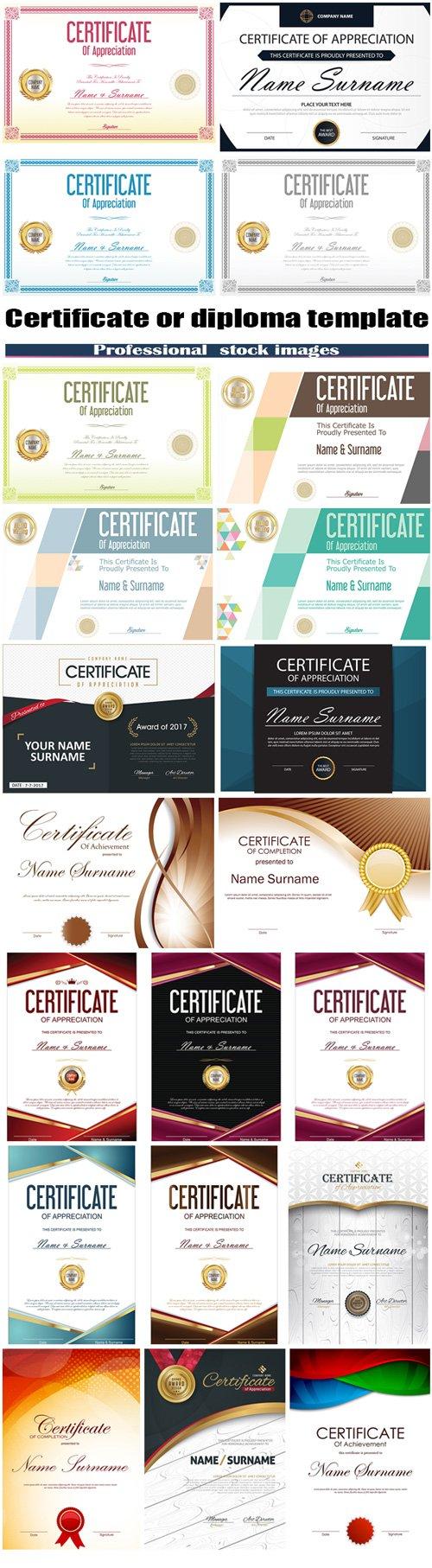 Certificate or diploma template #2