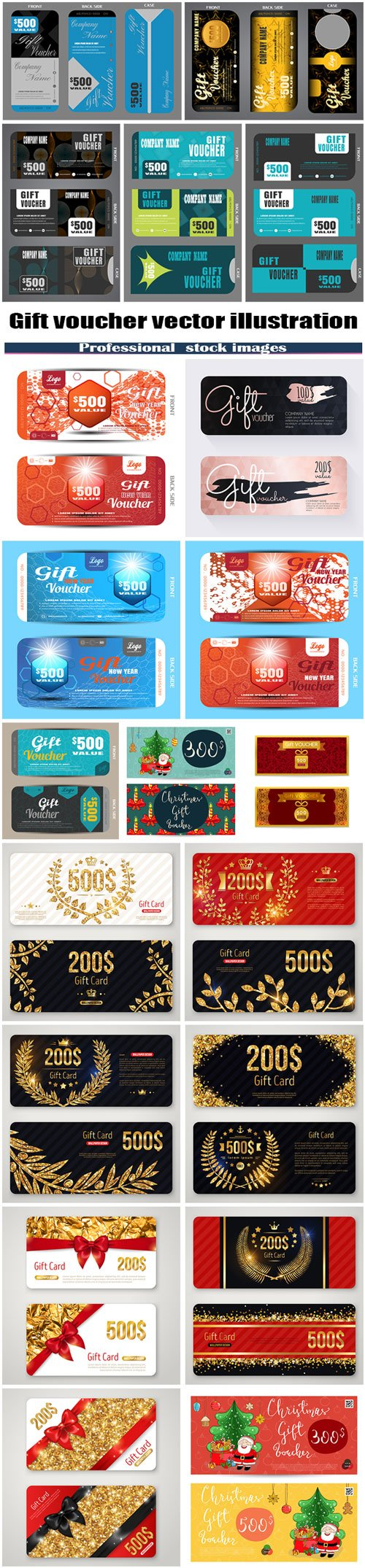Gift voucher vector illustration