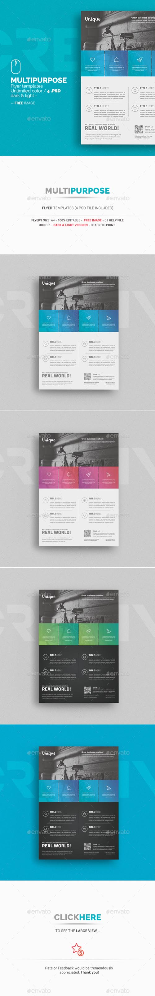 Multipurpose Business Flyer Templates 13671347