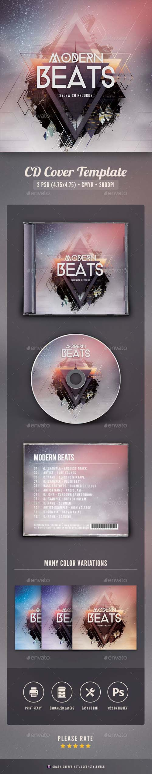 Modern Beats CD Cover Artwork 16142099