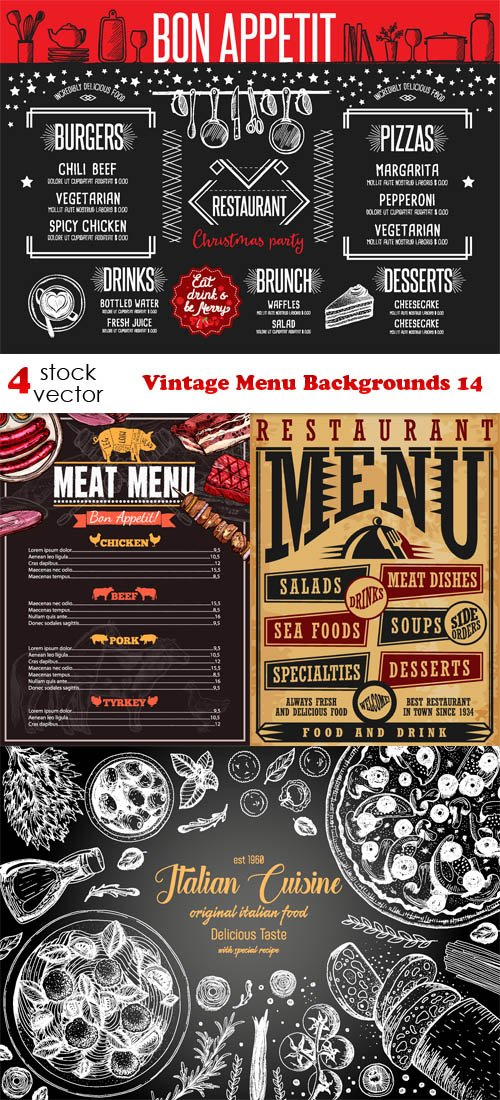 Vectors - Vintage Menu Backgrounds 14