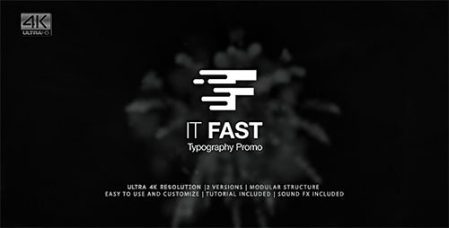 It Fast - Typography Promo - Project for After Effects (Videohive)