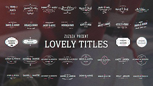 Lovely Titles - Project for After Effects (Videohive)