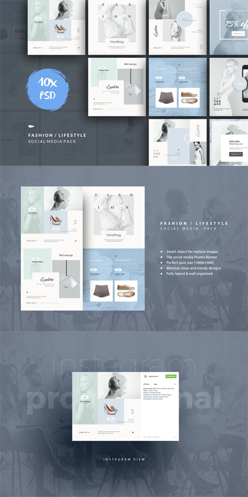 Fashion / Lifestyle Social Media Pack