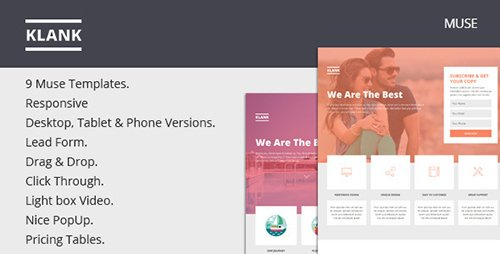ThemeForest - Klank v1.0 - Multipurpose Landing Page Muse Template - 12364012