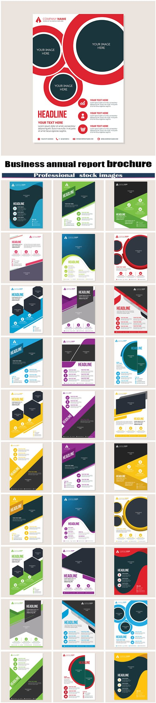Corporate business annual report brochure