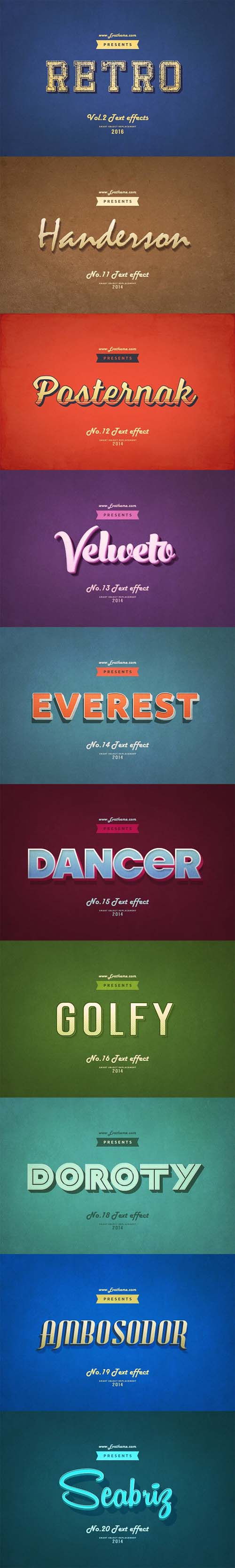 Retro Style Text Effects Vol.2