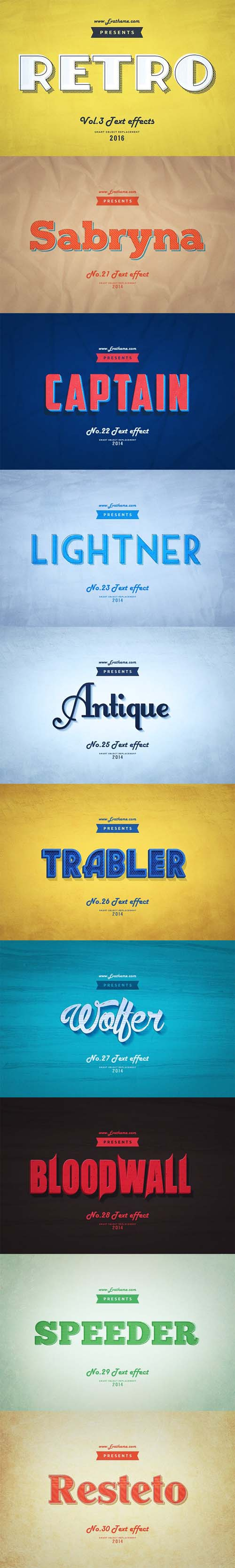 Retro Style Text Effects Vol.3