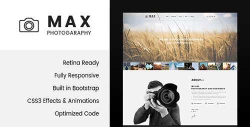 ThemeForest - Max Photography v1.0 - Photographer HTML Template - 19372348