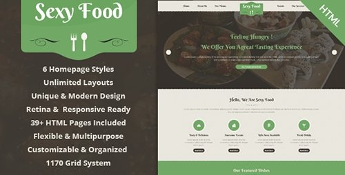 ThemeForest - Sexy Food - Food & Restaurant HTML Template (Update: 27 June 15) - 8028122