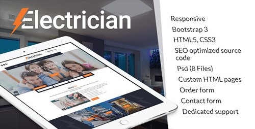 ThemeForest - Electrician v1.0 - electricity services HTML website template - 18840743