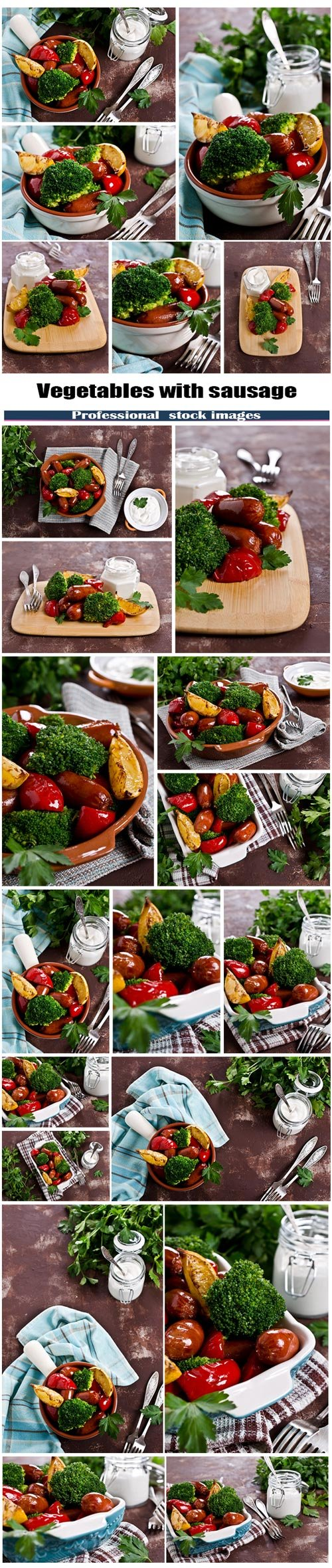 Vegetables with sausage