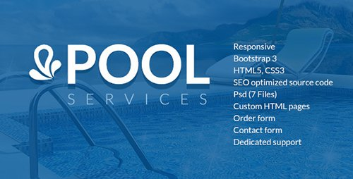 ThemeForest - Pool Services HTML website template (Update: 19 January 17) - 18190674