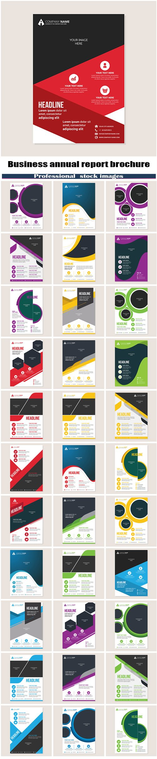 Corporate business annual report brochure #2