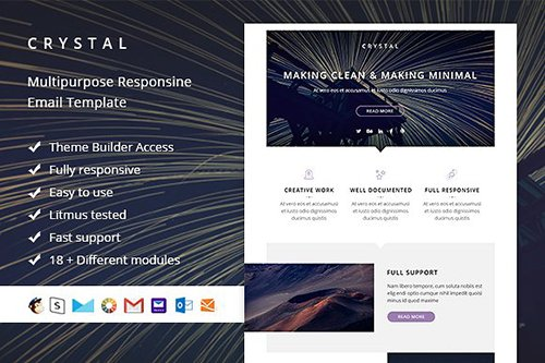 Crystal - Email template + Builder - CM 848651