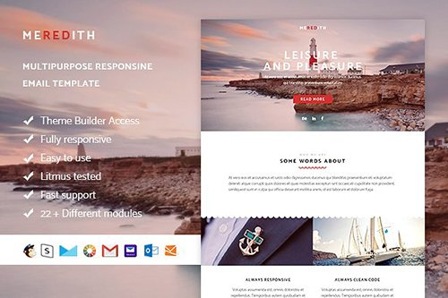 Meredith - Email template + Builder - CM 770047