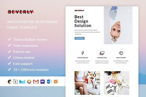 Beverly - Email template + Builder - CM 889249