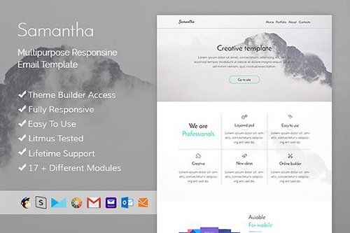 Samantha - Email template + Builder - CM 503780