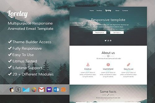 Loreley - Animated responsive email+SR builder - CM 531876