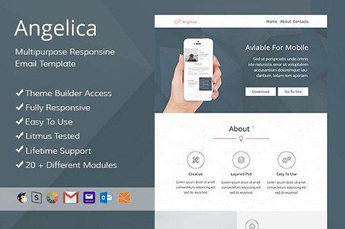 Angelica - Email template + Builder - CM 476089