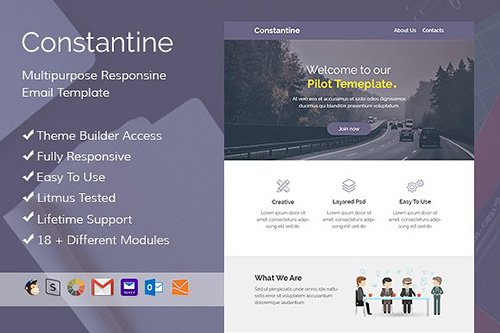 Constantine - Email template+Builder - CM 485900