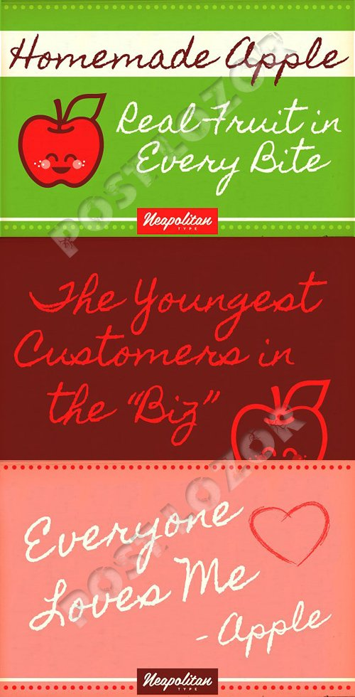 CM Homemade Apple Font Display 1222091