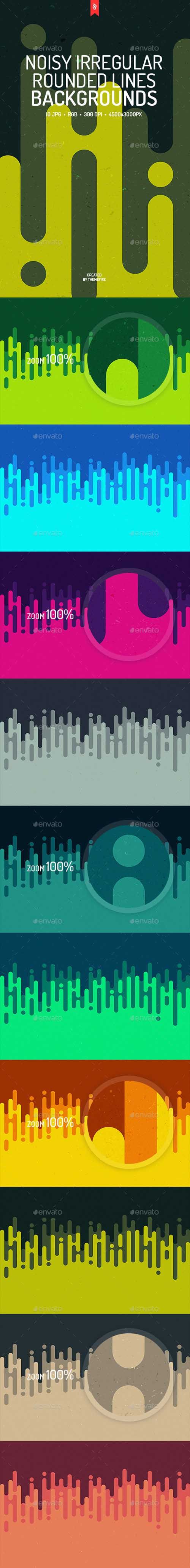 Noisy Rounded Lines Backgrounds 18910726