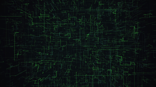 Green Digital Grid Background