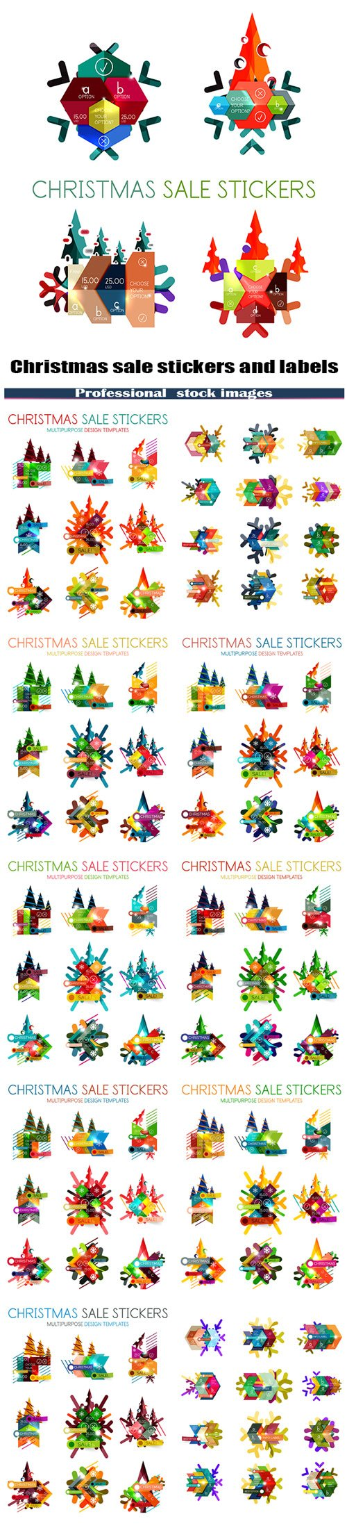 Christmas sale stickers and labels