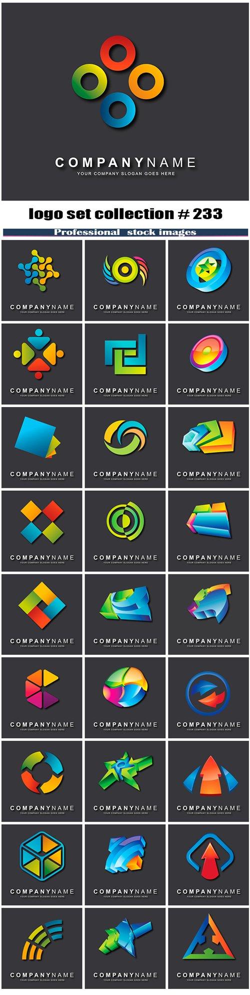 logo set collection # 233