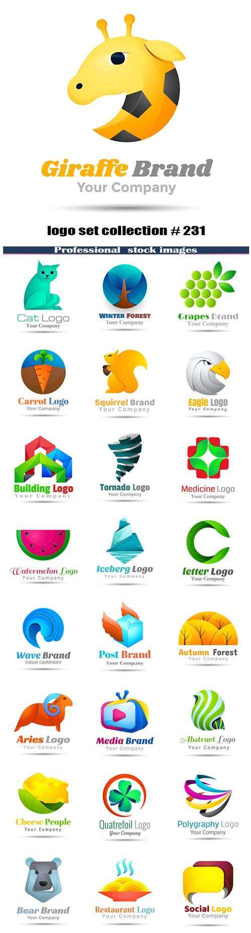 logo set collection # 231