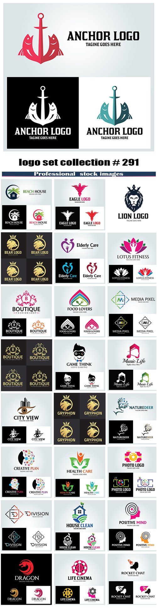 logo set collection # 291
