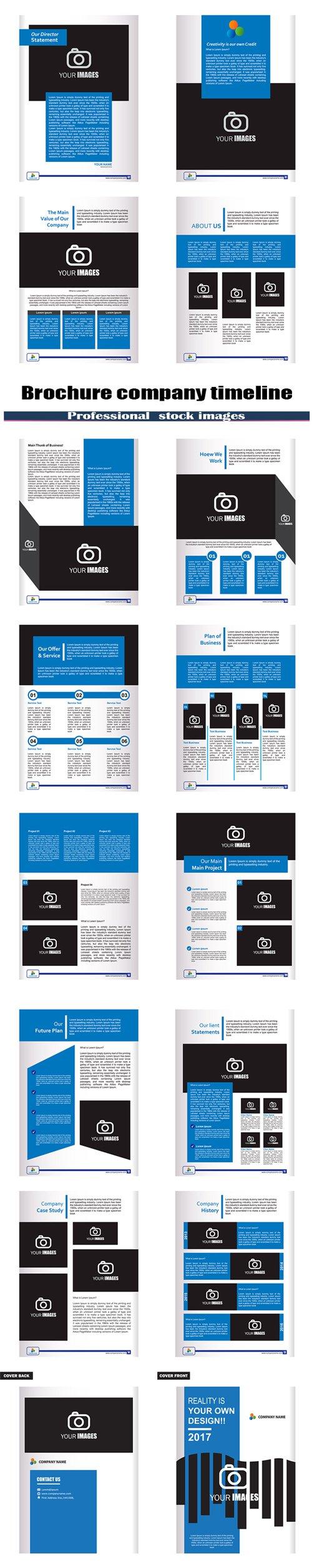 Brochure company timeline
