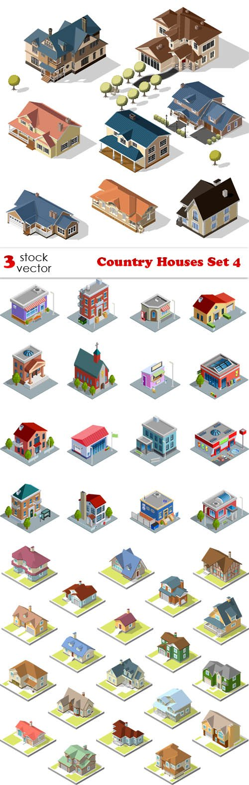 Vectors - Country Houses Set 4