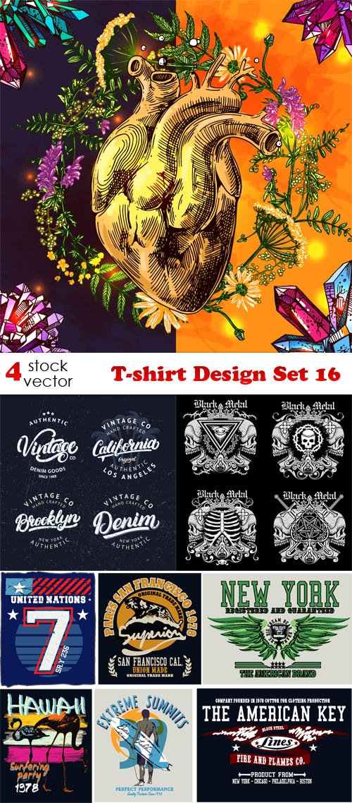 Vectors - T-shirt Design Set 16