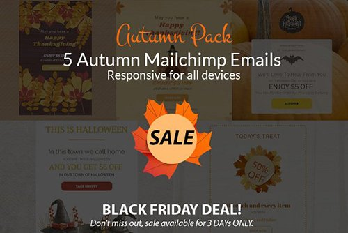 Autumn Sales (mailchimp emails) - CM 1070716