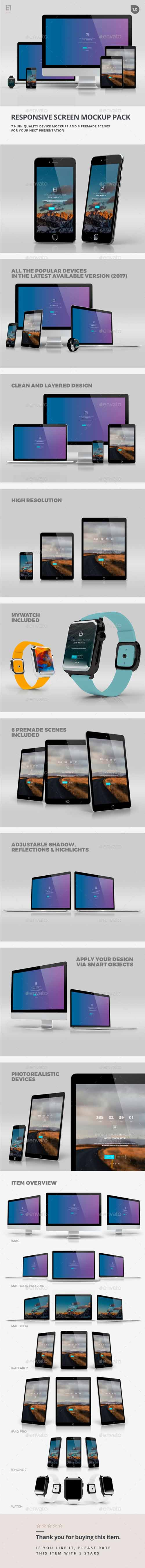 Responsive Screen Mockup Pack 19402690