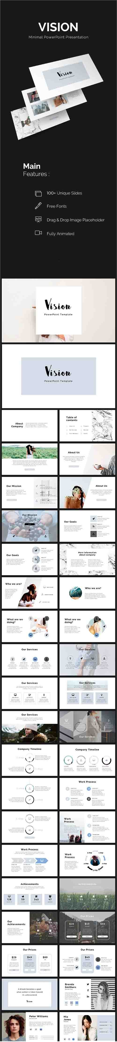 GR - Vision Minimal PowerPoint Template 19373442