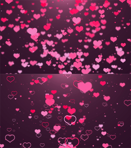2 Hearts Backgrounds