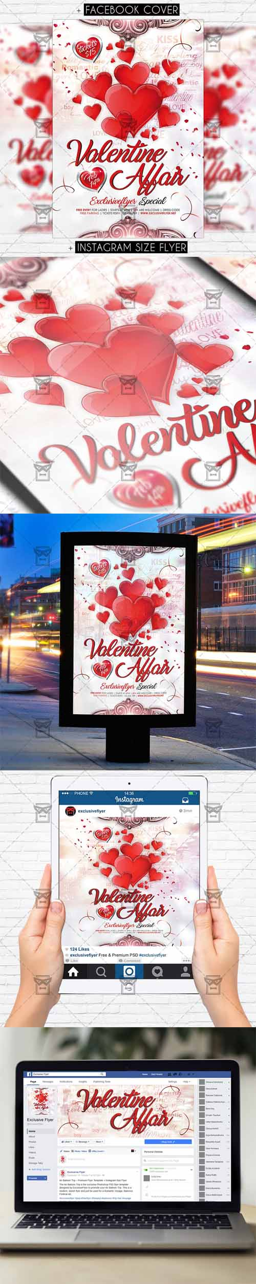 Flyer Template - Valentine Affair