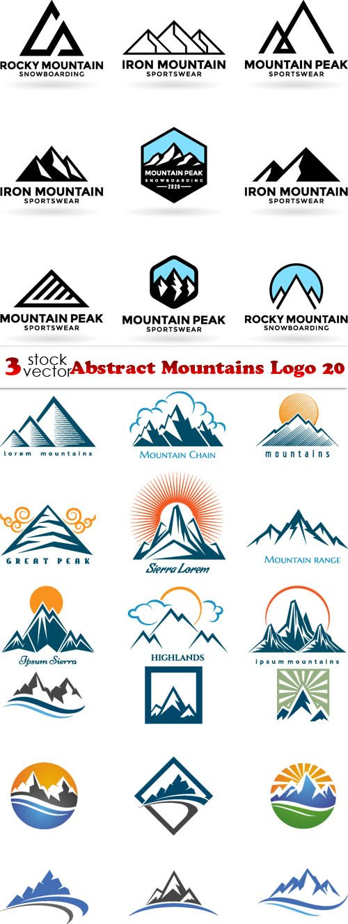 Vectors - Abstract Mountains Logo 20