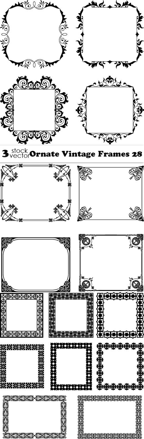 Vectors - Ornate Vintage Frames 28