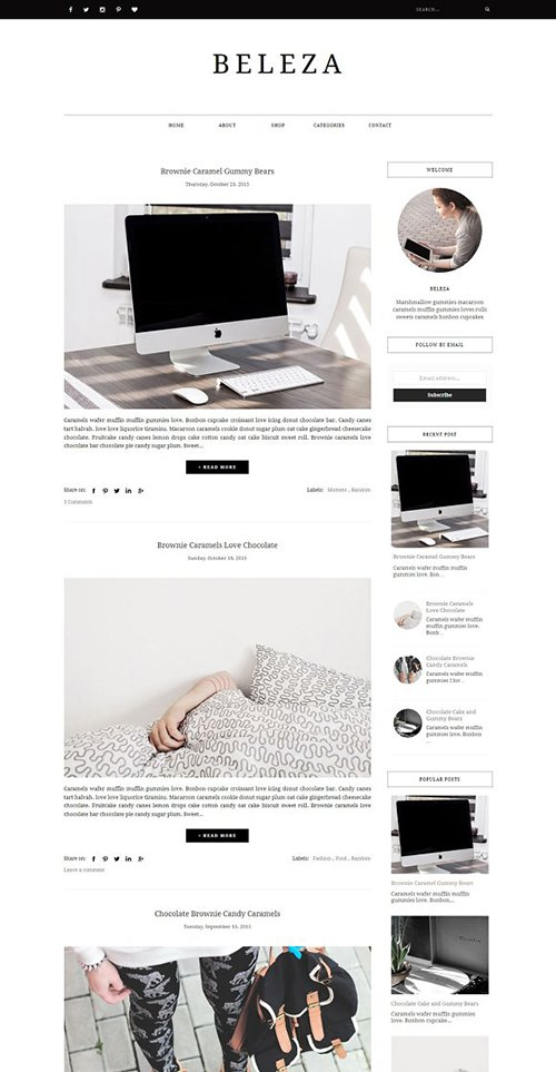 Blogger Template Responsive - BELEZA - CM 1199687