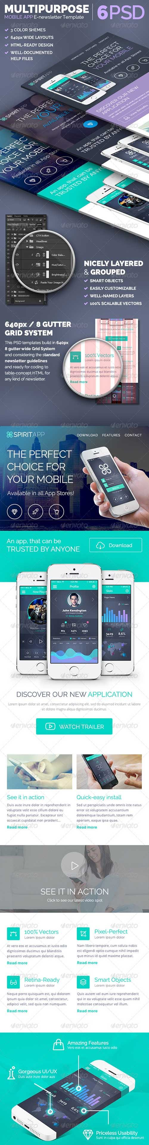 GraphicRiver - SpiritApp - Multipurpose E-newsletter Template - 7849208